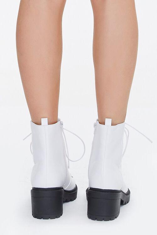 Faux Leather Combat Boots, image 3