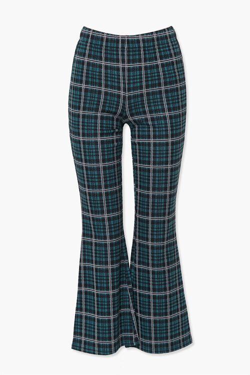 HUNTER GREEN/MULTI Plaid Flare Ankle Pants, image 1