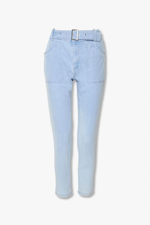 Belted Ankle Jeans, image 1