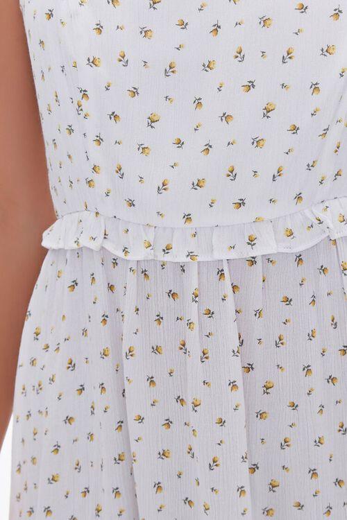 Floral Print Lace-Up Mini Dress, image 5
