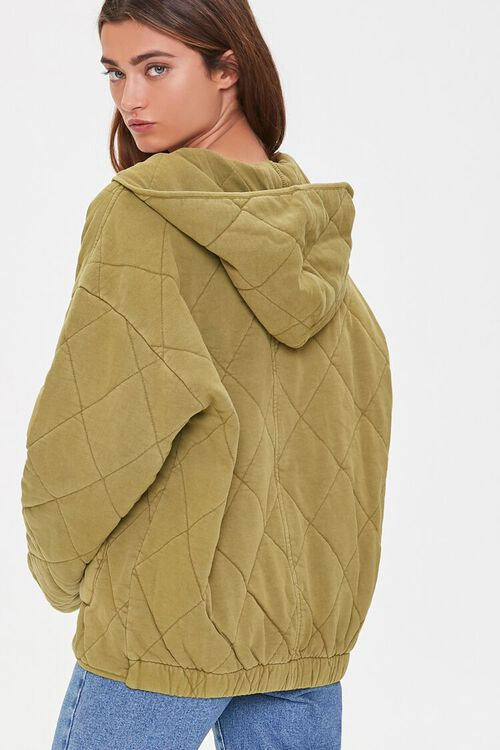 Quilted Zip-Up Hoodie, image 4