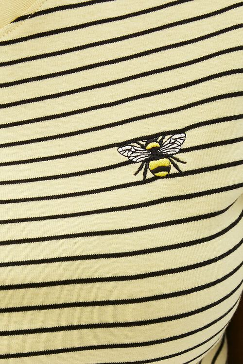 Plus Size Pinstriped Bee Tee, image 5