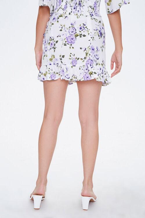 Floral Mock Wrap Skirt, image 4