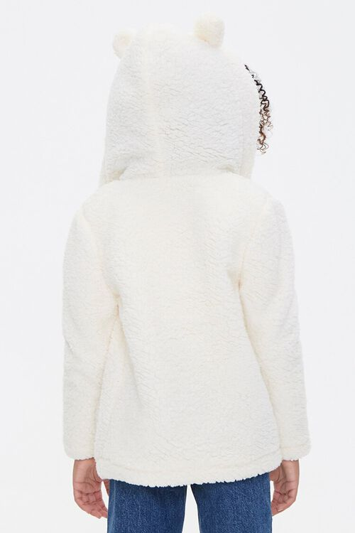 Girls Faux Shearling Zip-Up Hoodie (Kids), image 4