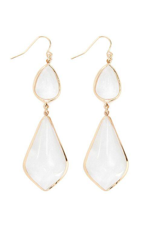 Transparent Geo Pendant Drop Earrings, image 2