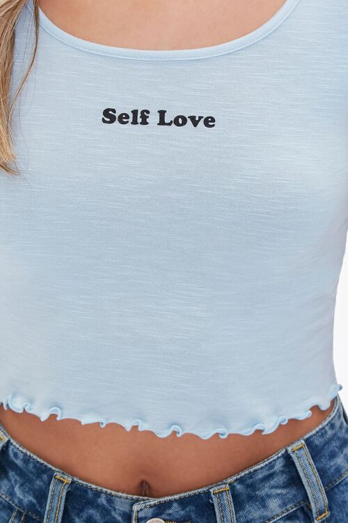 Cropped Self-Love Graphic Tee, image 5