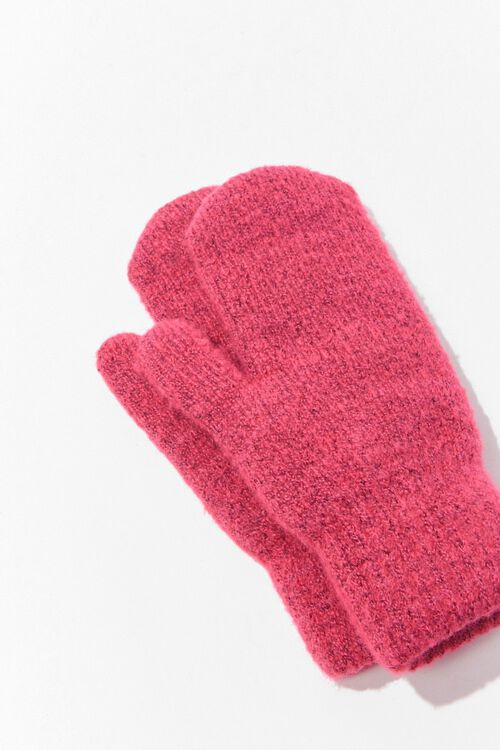 Ribbed Knit Mittens, image 2