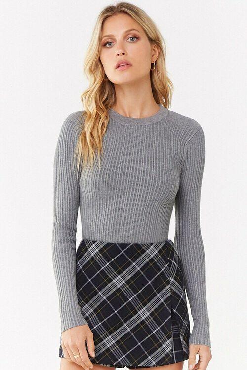 Ribbed Round Neck Sweater, image 2