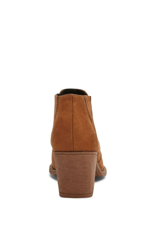 BROWN Faux Suede Chelsea Boots, image 5
