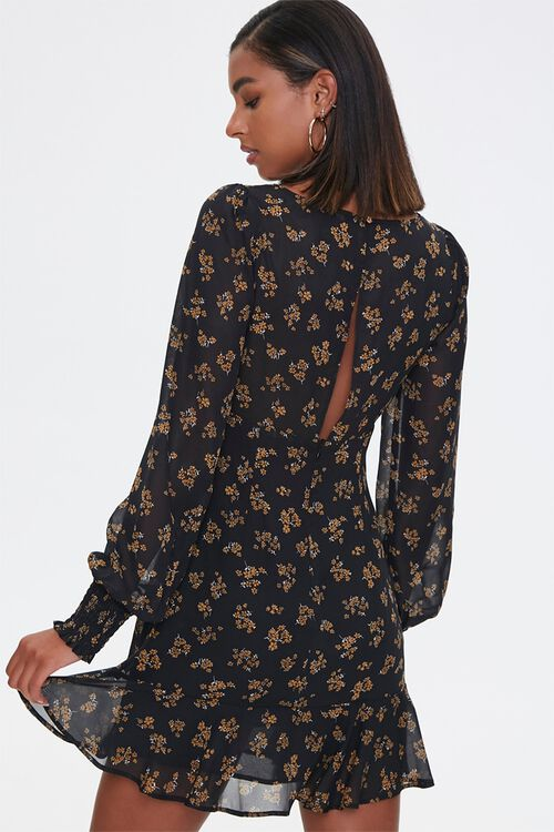 Peasant Dress Floral Moth