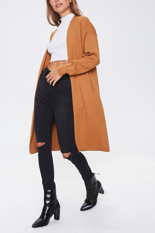 Ribbed Duster Cardigan, image 1