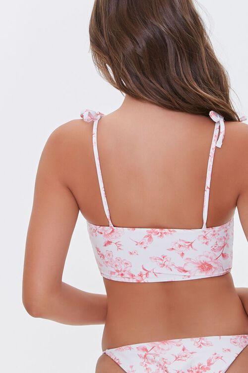 Floral Print Self-Tie Bralette Bikini Top, image 3
