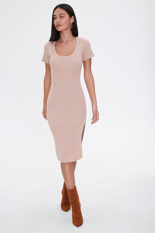 Heathered Bodycon Dress, image 3