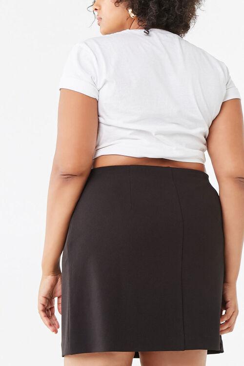 Plus Size Bodycon Mini Skirt, image 3