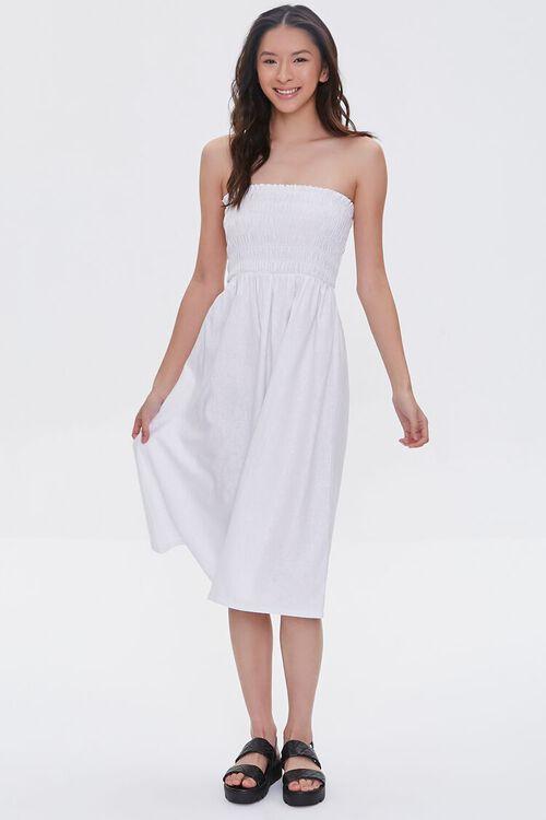 Smocked Strapless Dress, image 5