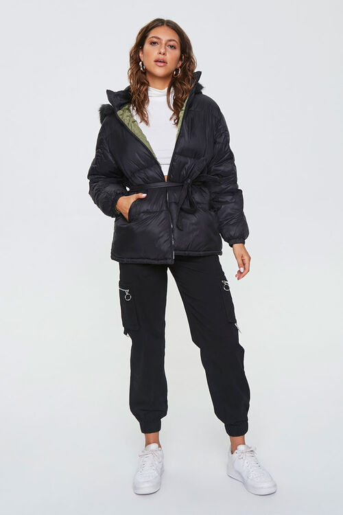 Faux Fur-Trim Puffer Jacket, image 5
