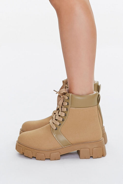 Lug Sole Lace-Up Ankle Boots, image 2