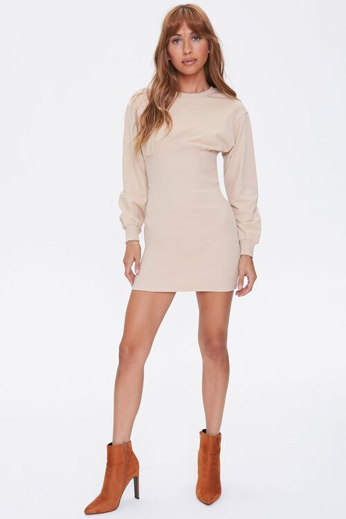French Terry Bodycon Dress, image 4