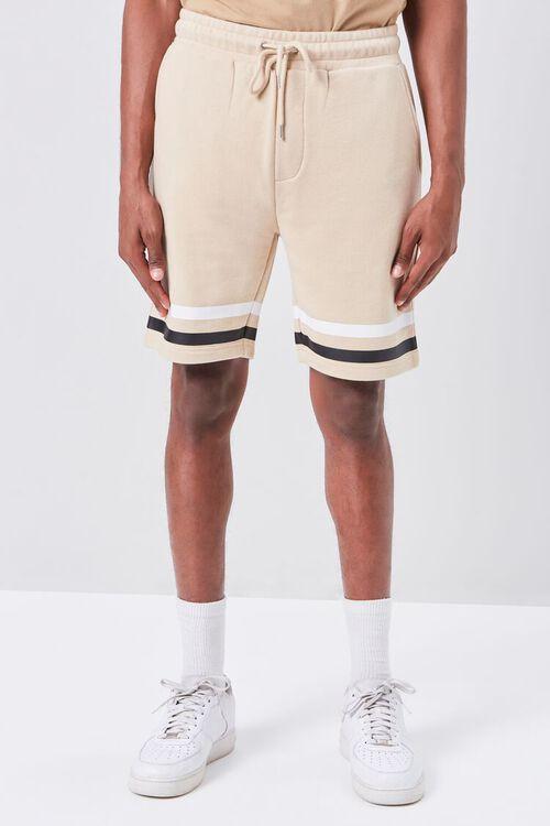 Striped-Trim Drawstring Shorts, image 2