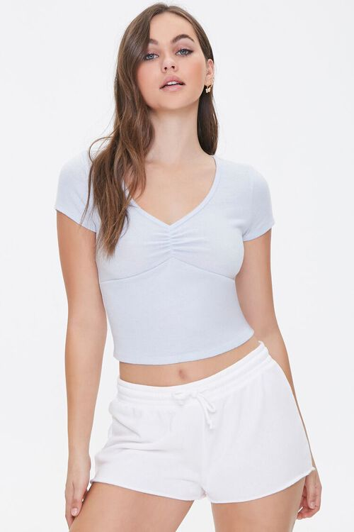 Ruched Lounge Tee, image 1