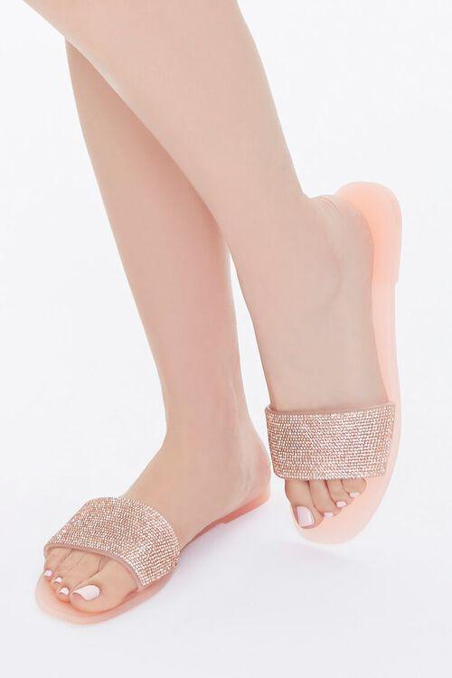 Rhinestone Slip-On Sandals, image 1