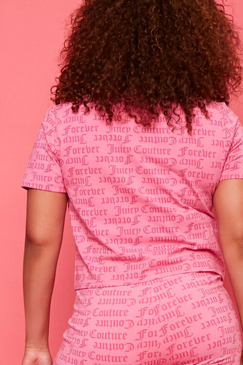 PINK/MULTI Plus Size Juicy Couture Graphic Tee, image 3
