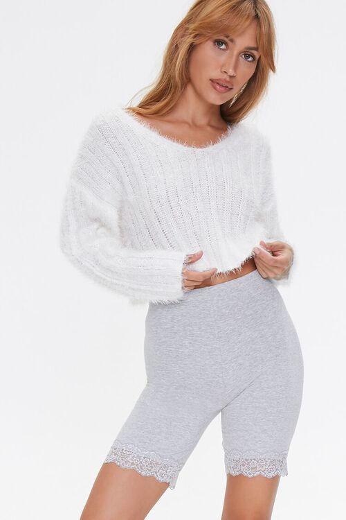 Lace-Trim Biker Shorts, image 1