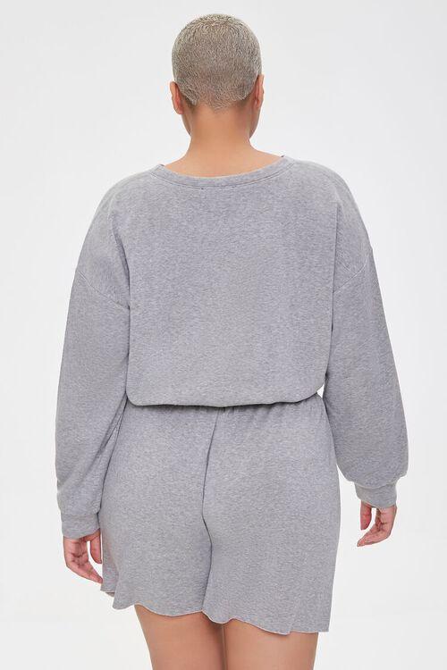 Plus Size Sweatshirt & Shorts Set, image 3