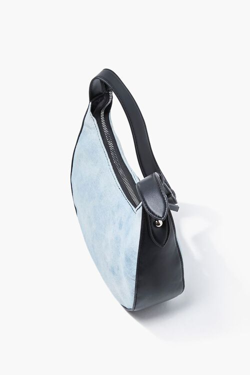 Denim Washed Shoulder Bag, image 2