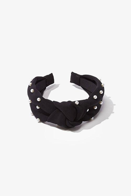 Ribbed Faux Pearl Headband, image 4