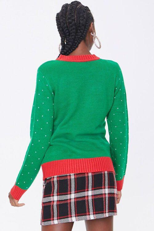 GREEN/MULTI Santa Graphic Sweater, image 3