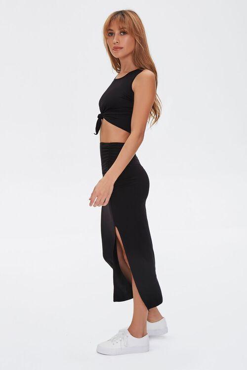 Crop Top & Midi Skirt Set, image 2