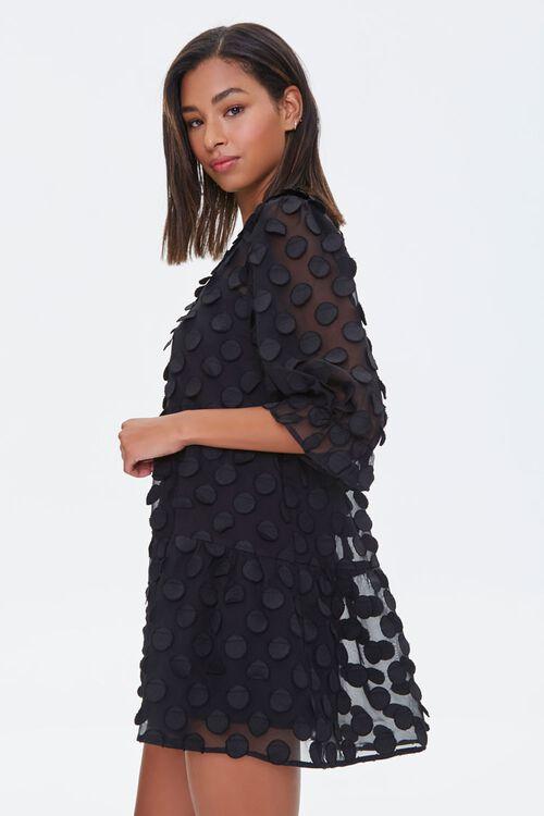 Polka Dot-Embellished Collared Dress, image 2
