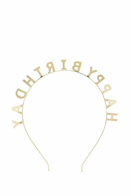 GOLD Happy Birthday Headband, image 3