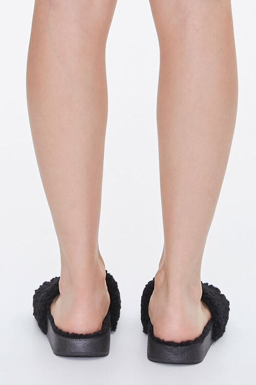 Faux Shearling Slippers, image 3
