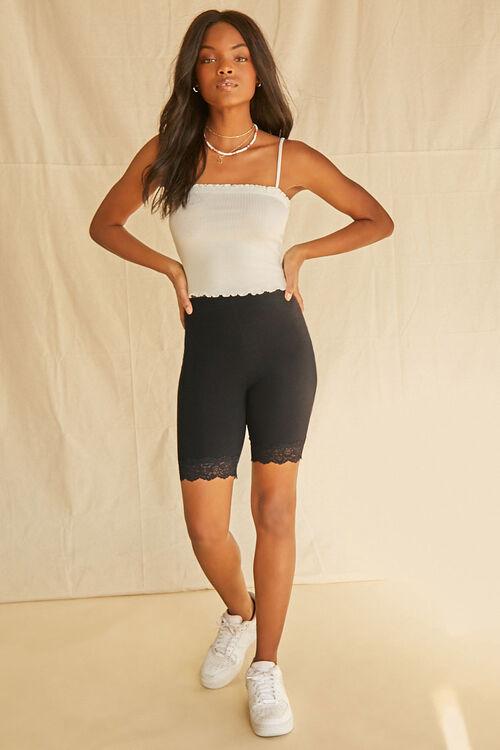 Lace-Trim Biker Shorts, image 5