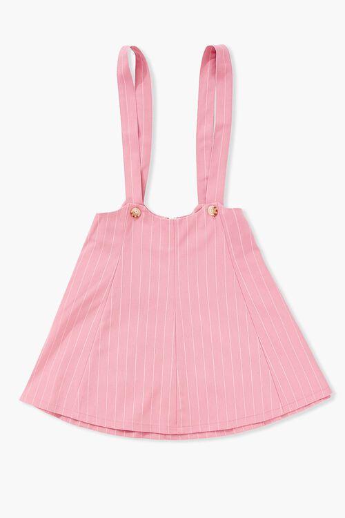Girls Pinstriped Overall Dress (Kids), image 1