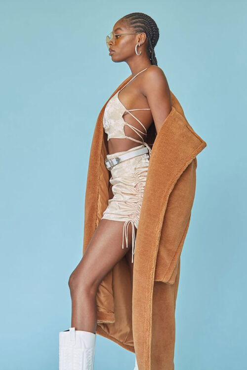 Satin Cropped Cami & Skirt Set, image 1