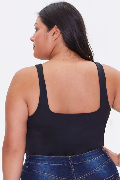 Plus Size Square-Neck Bodysuit, image 3