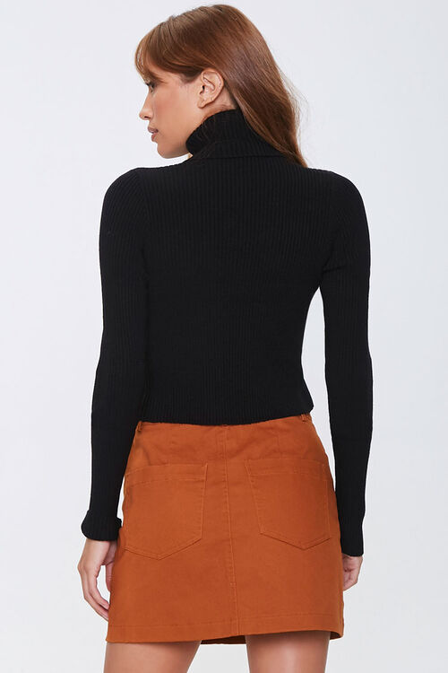 Ribbed Turtleneck Sweater, image 3