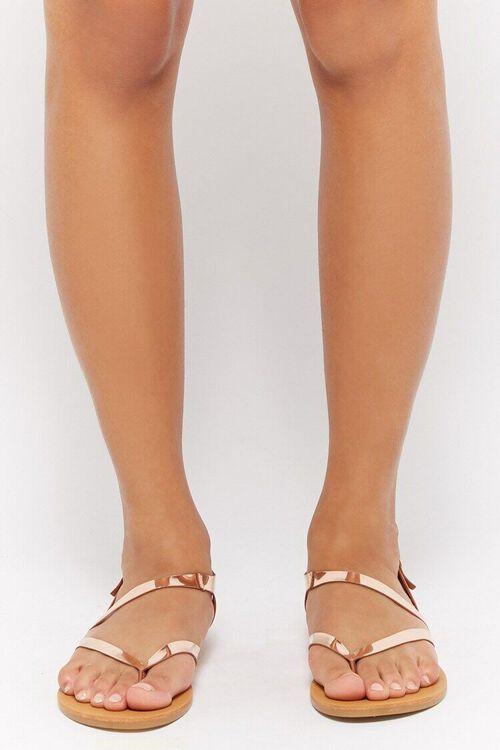 Metallic Flat Sandals, image 2