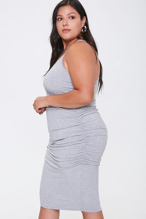Plus Size Ruched Cami Dress, image 2