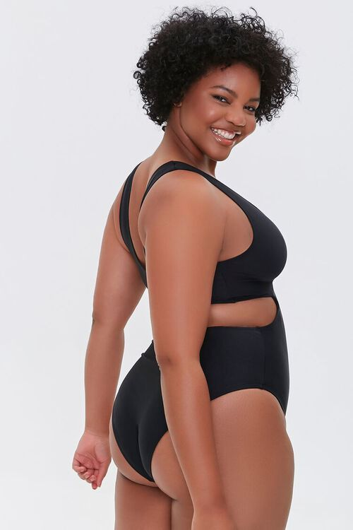 Plus Size Twisted Cutout One-Piece Swimsuit, image 2
