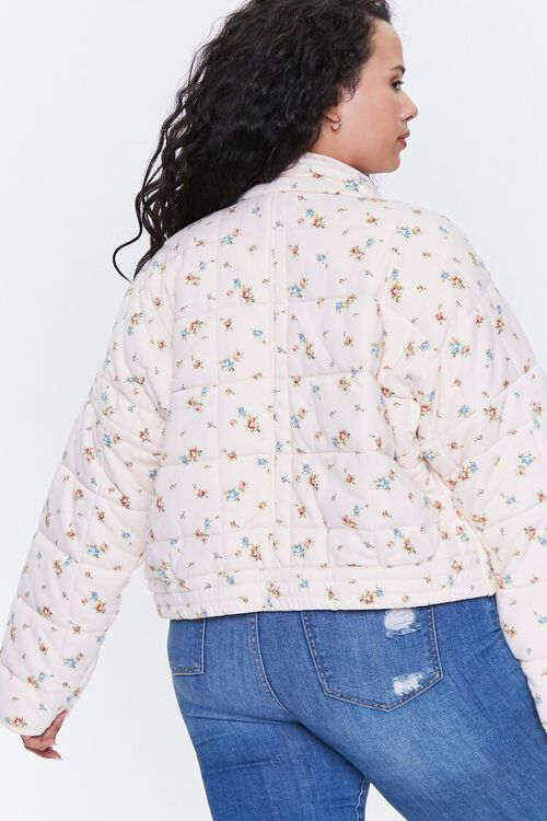 Plus Size Floral Puffer Jacket, image 3