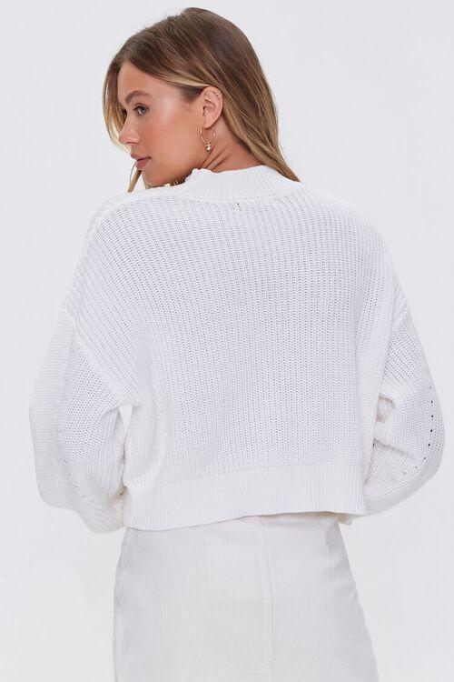 CREAM Mock Neck Ribbed Sweater, image 3