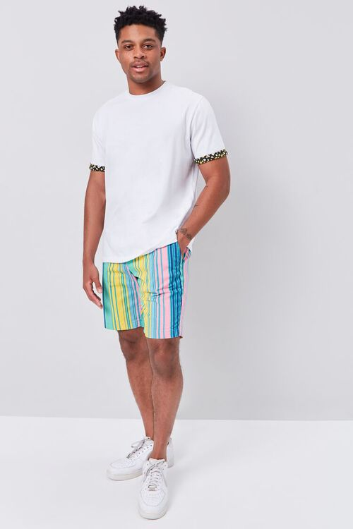Multicolor Vertical Striped Shorts, image 5
