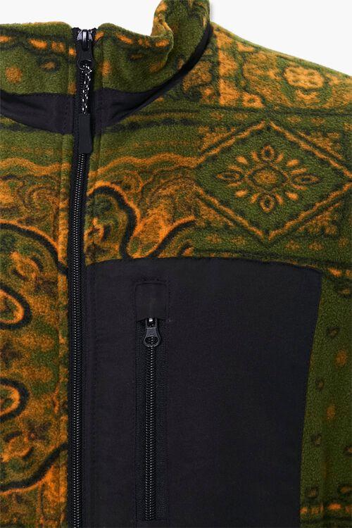 Paisley Fleece Zip-Up Jacket, image 4
