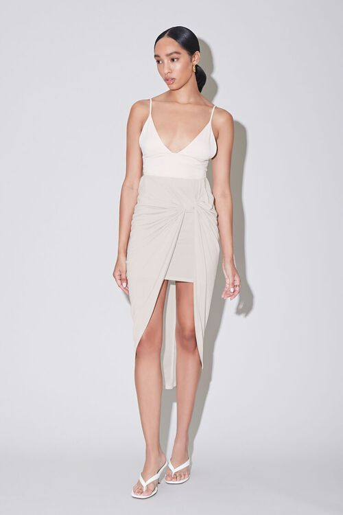 Twisted High-Low Skirt, image 1