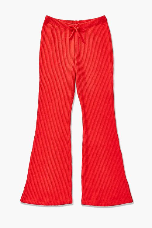 Girls Ribbed Flare Pants (Kids), image 1