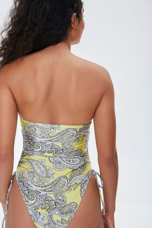 Paisley Strapless One-Piece Swimsuit, image 3